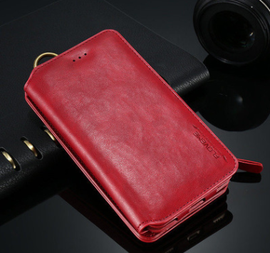 Luxury Retro Leather Wallet Case For Samsung