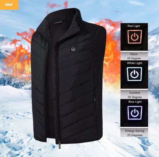 (HOT SALE)USB Heated Vest Jacket-Free shipping!!