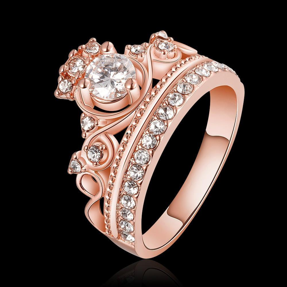 Rose Gold Color Queen Ring