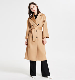 Classic Wool Coat With Zibeline Texture