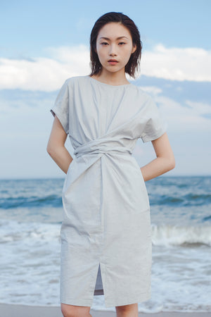 Cross Front Cotton Dress