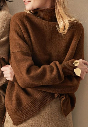 Wool Jumper with Funnel Neck