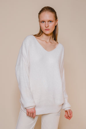 Loose Fit V Neck Sweater