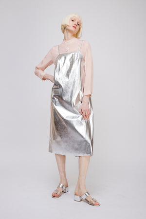 Metallic Strappy Dress