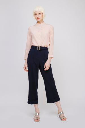 Wide Leg Pants with Belt