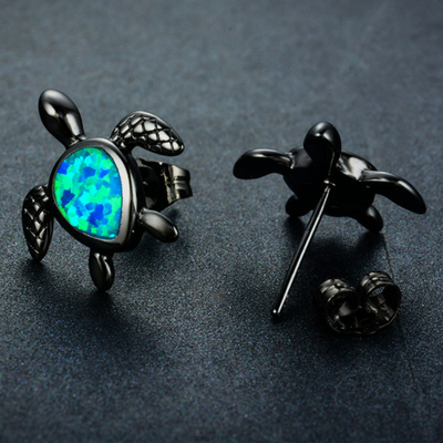Blue Turtle Earrings - RynieR