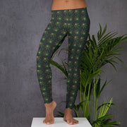 Green Leaf Leggings