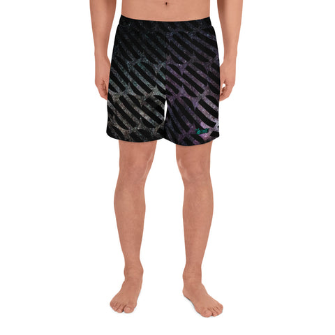 Abstract Space- Athletic Long Shorts