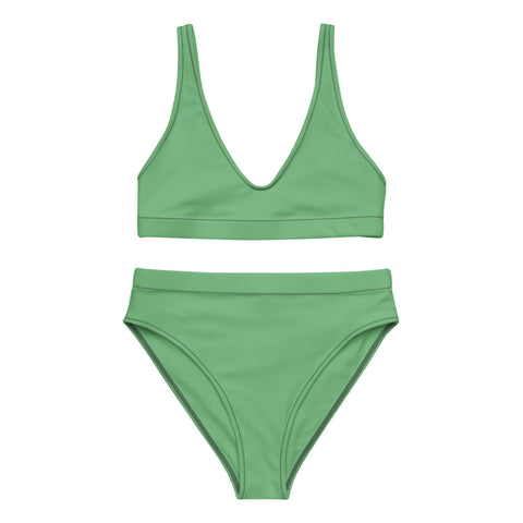 Green- Recycled Material high-waisted bikini Set