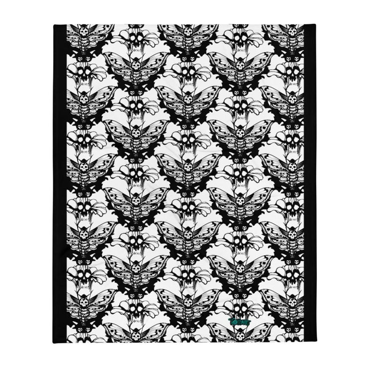 Death's-head Moth Throw Blanket - Tokinart, LLC