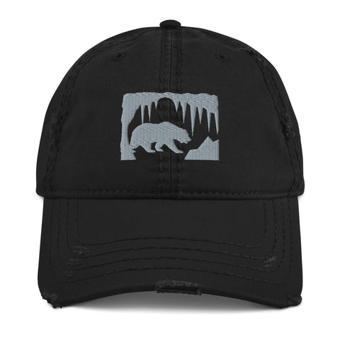 Bear in the Cave- Distressed Dad Hat