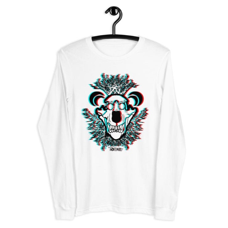 Tokin-3D Bear Skull Long Sleeve Tee - Tokinart, LLC