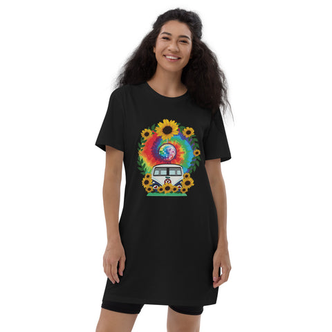 Love Bus- Organic cotton T-Shirt Dress