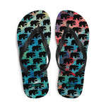 Bear on Paint- Flip-Flops