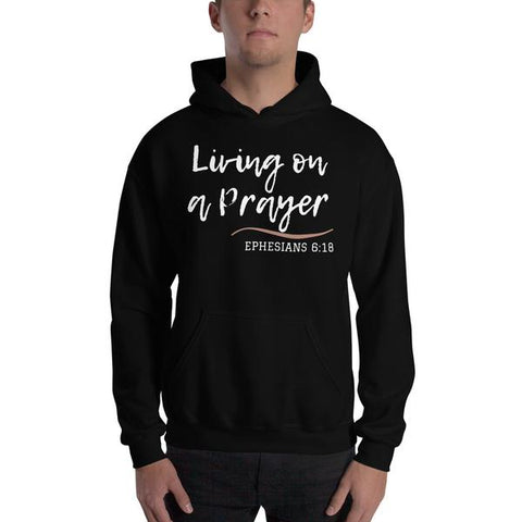 At One Way Christian Store, we believe in selling high-quality religious Apparel Clothing & accessories that reflect your faith in Jesus. Living on a prayer hoodie