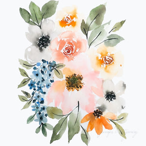 October Watercolour Florals