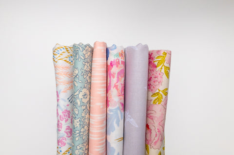 May 6pc fat quarter bundle by weave and woven | Monthly Fabric Subscription Bundle