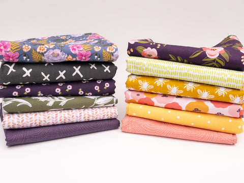 12 Pc Fat Quarter Bundle by Weave and Woven | Monthly Fabric Subscription Bundle