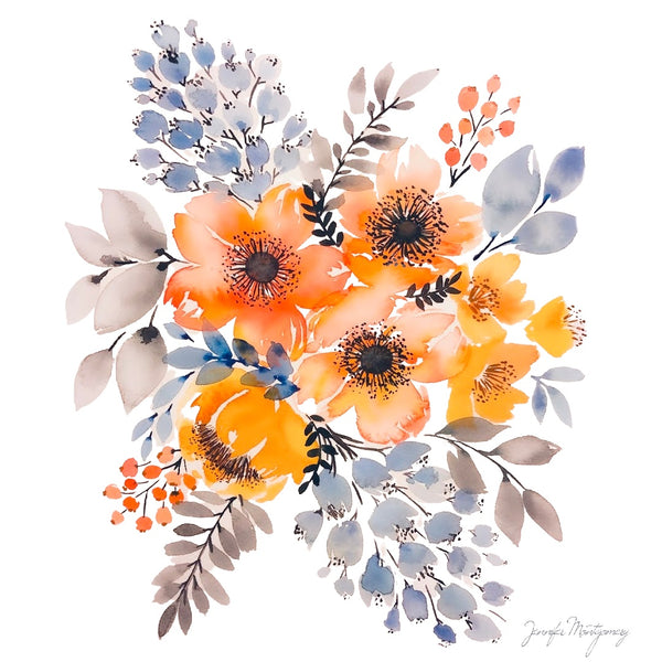 September Watercolor Florals | Weave & Woven