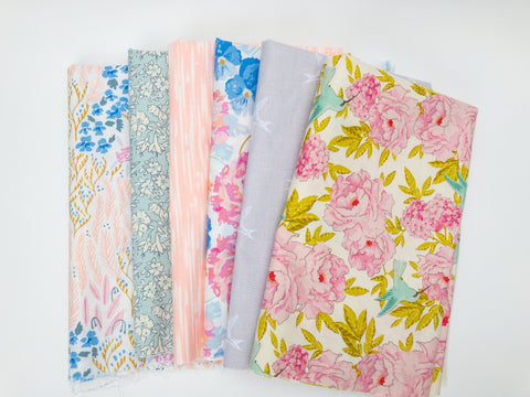 6 Pc The Fabric Club Monthly Subscription Fabric Bundle | Weave & Woven