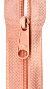 "Closed Bottom 9"" Zipper in Peach, Zipper, YKK - Weave & Woven"