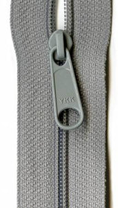"Closed Bottom 14"" Zipper in Pearl Grey, Zipper, YKK - Weave & Woven"