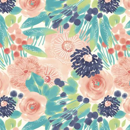 Blush Florals in Multi, Quilting Cotton, Marcus Fabrics - Weave & Woven