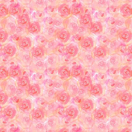 Small Pink Watercolour Roses - Weave & Woven
