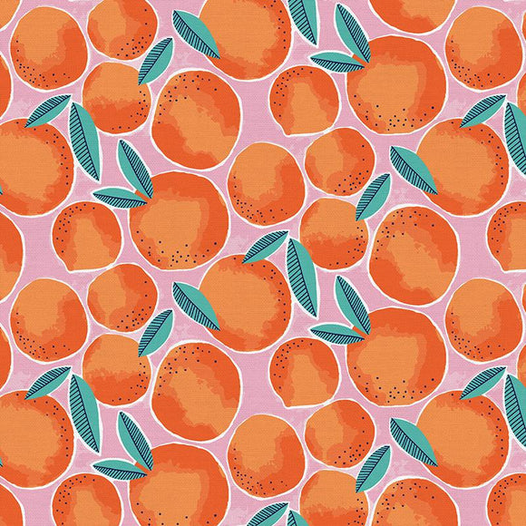 Oranges on Pink