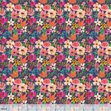Forest Friends Florals on Plum, Quilting Cotton, Blend Fabrics - Weave & Woven