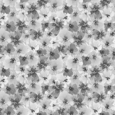 Grey Packed Floral