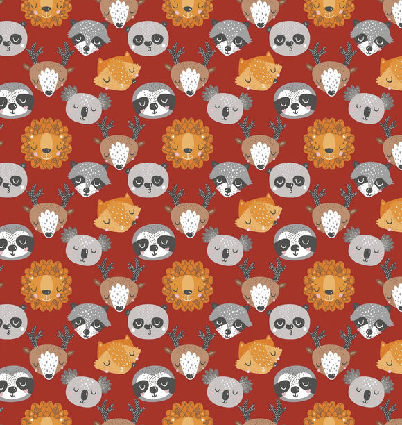 Animals Faces in Red