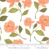 Goldenrod Raleigh Floral in White, Quilting Cotton, Moda Fabrics - Weave & Woven
