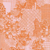 Overgrowth in Pink, Terrestrial Collection for Cloud 9 Fabrics, Organic Cotton, Weave and Woven