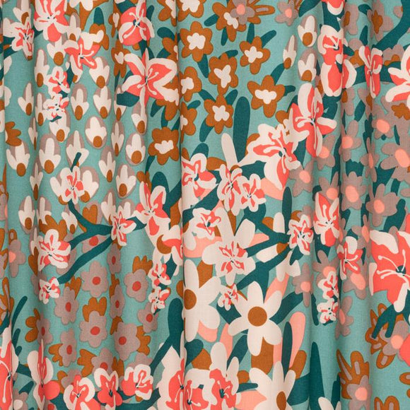 Holli Zollinger Floral in Kuma | Organic Cotton, Quilting Cotton, Nerida Hansen - Weave & Woven