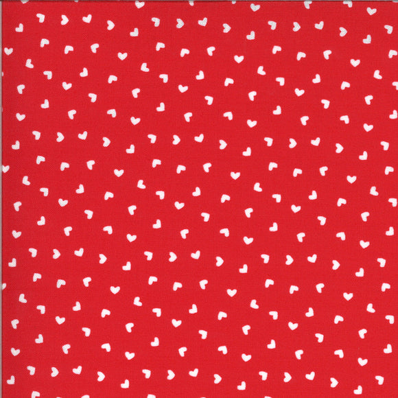 Be Mine Hearts in Kisses, Quilting Cotton, Moda Fabrics - Weave & Woven
