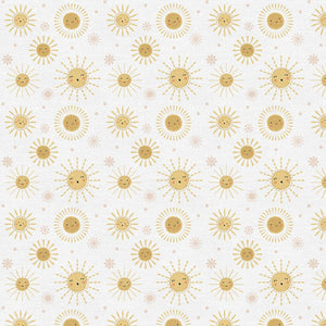 Happy Suns on White - Weave & Woven
