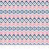 Ikat in Navy and Coral