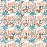 Sea Coral on White, Quilting Cotton, The Craft Cotton Company - Weave & Woven