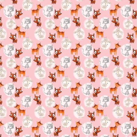 Cats and Dogs on Pink, Quilting Cotton, The Craft Cotton Company - Weave & Woven