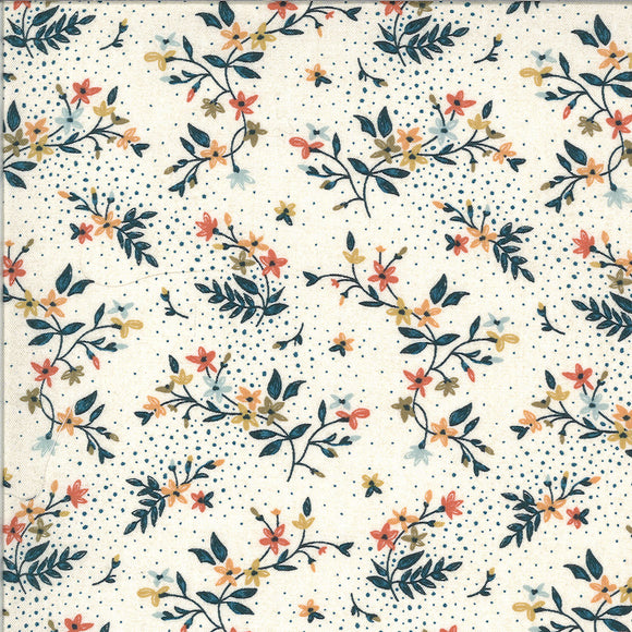 Wildflower Springs in Roasted Marshmallow, Quilting Cotton, Moda Fabrics - Weave & Woven
