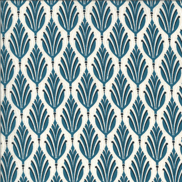 Leaves in Blueberry Buckle, Quilting Cotton, Moda Fabrics - Weave & Woven