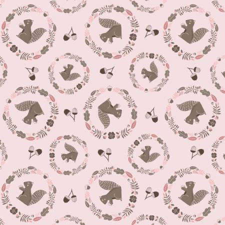 Watson in Pink, Watson in the Woods Collection for Camelot Fabric, Weave and Woven