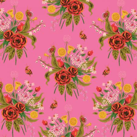 Pink Wild Flowers - Weave & Woven