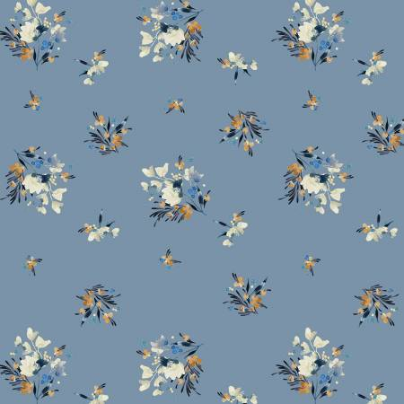 Gather in Blue, Botany Collection for Windham Fabrics, Weave and Woven