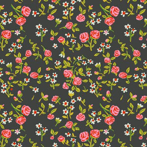 Mousies Floral in Dark Green - Weave & Woven