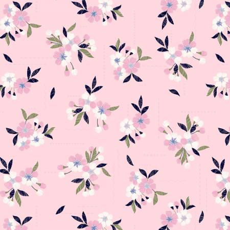 Petal Floral Stitches in Pink - Weave & Woven