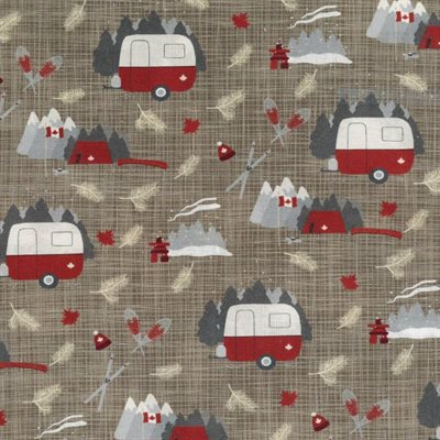 British Columbia Camping, Quilting Cotton, Moda Fabrics - Weave & Woven