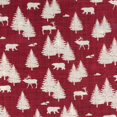 Northern Ontario in Red, Quilting Cotton, Moda Fabrics - Weave & Woven