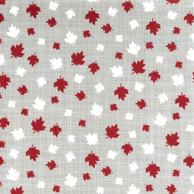Maple Leaves on Grey
